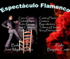 ESPECTCULO DE BAILE FLAMENCO EN MADRID. PAREJA DE BAILAORES INTERPRETAN LA HISTORIA DEL FLAMENCO.